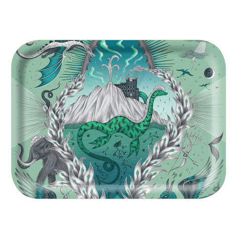 The Small Highlandia Turquoise Tray is the perfect trinket dish or tea tray, designed by Emma J Shipley inspired by Scotland and Fantasy