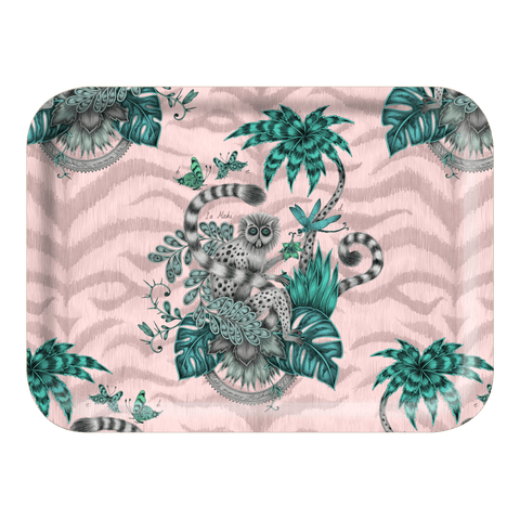 The Small Lemur Pink Tray is the perfect trinket dish or tea tray, designed by Emma J Shipley inspired by Scotland and Fantasy
