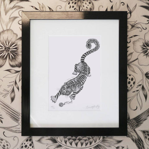 Panthera Tigris Mini Print - Black Frame