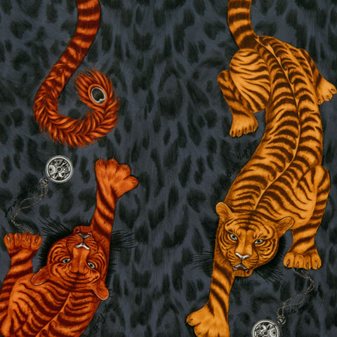 The powerful Tigris velvet fabric designed by Emma J Shipley in collaboration with Clarke x Clarke