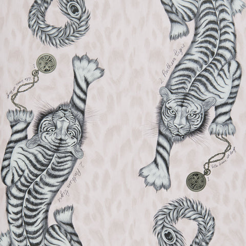 The fantastical pink Tigris wallpaper by Emma J Shipley x Clarke & Clarke