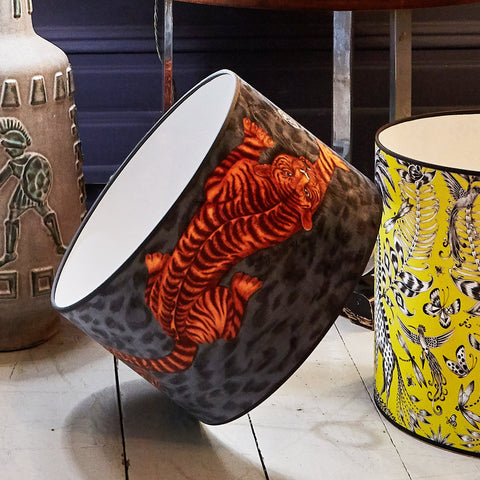 Tigris Velvet Lampshade - Medium