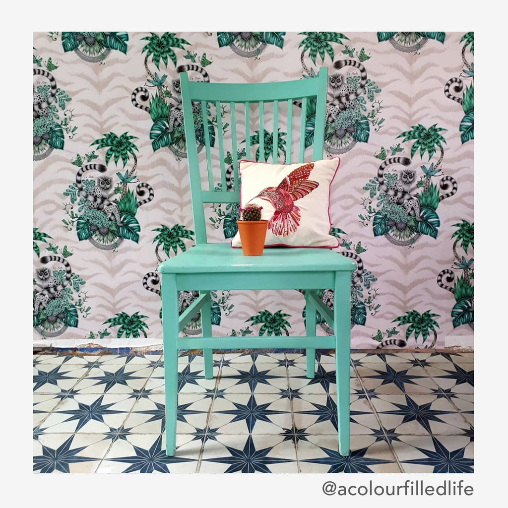 Emma J Shipley for Clarke and Clarke dreamy pink Lemur Wallpaper