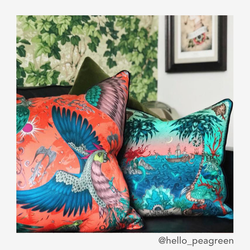 Make a bold statement with your interior design and add the Sirens Cushion by Emma J Shipley to your sofa!