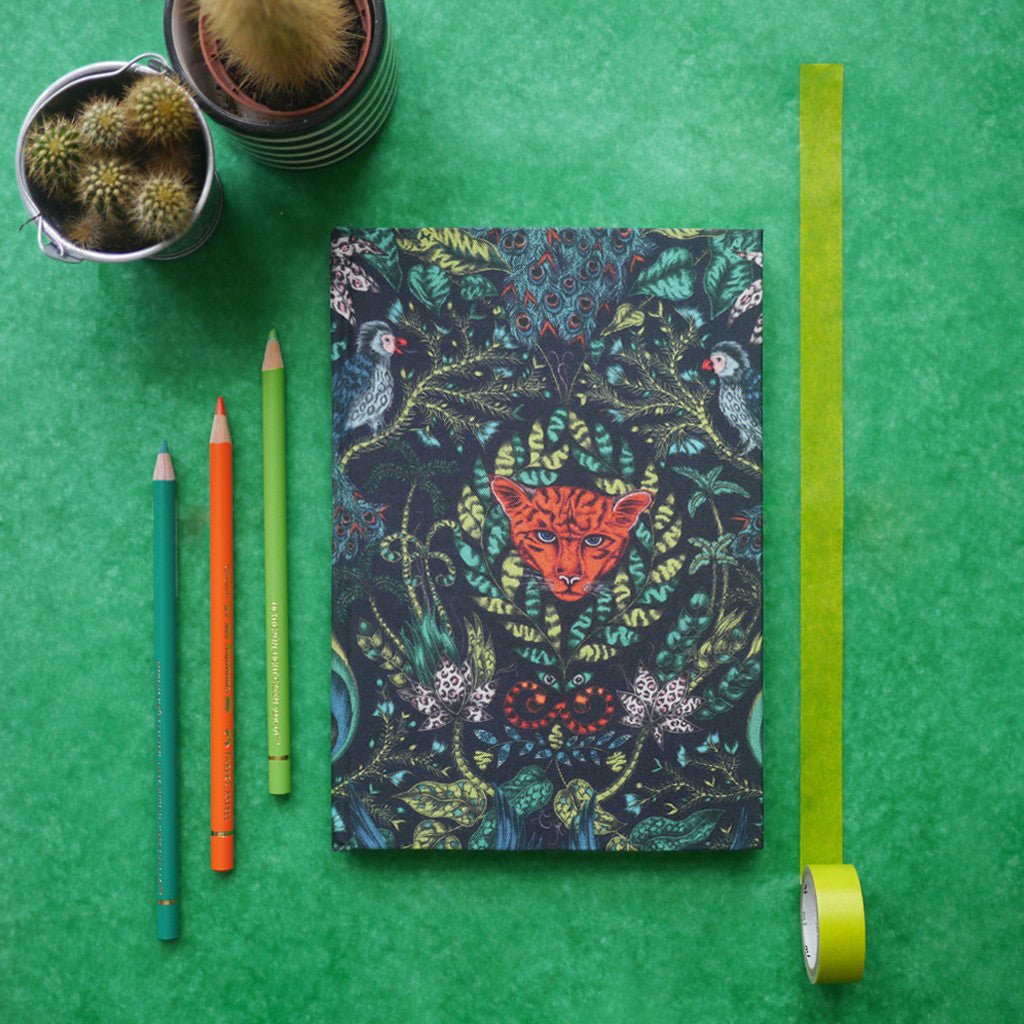 Magical jungle inspired printed notebook illustrated by Emma J Shipley
