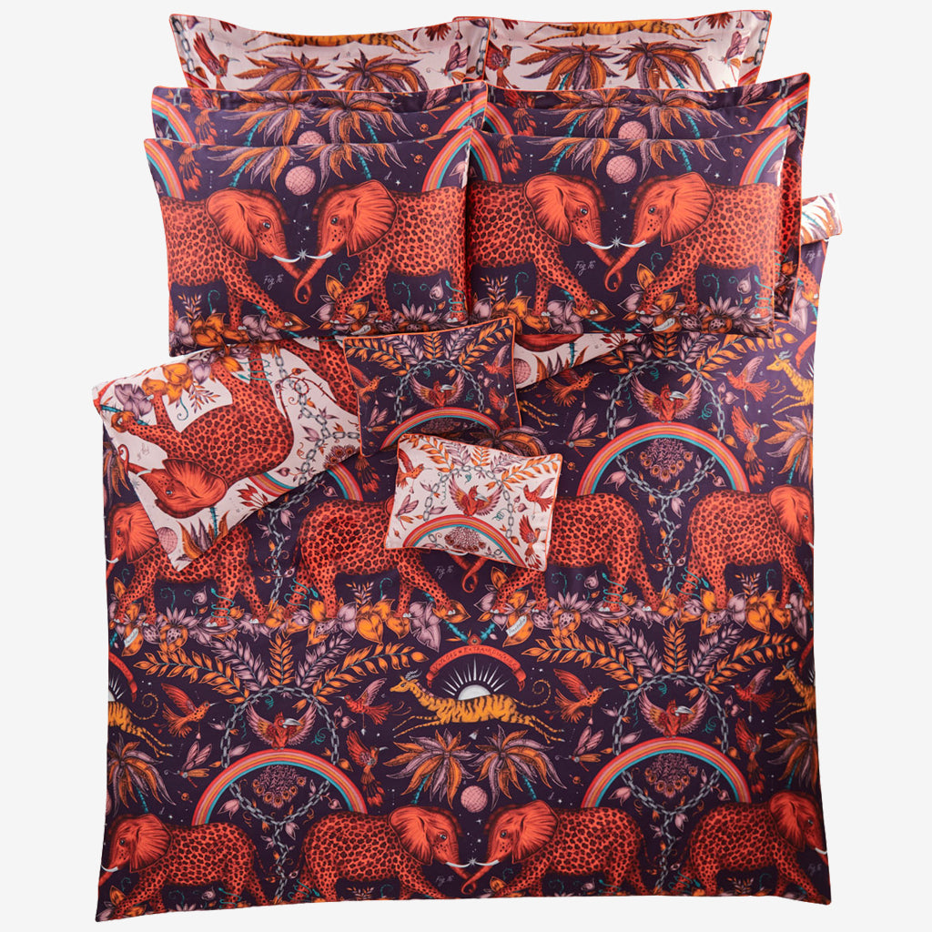 Zambezi Standard Pillowcase - Wine - Pair