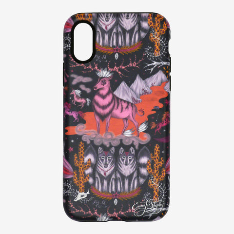 The Wild West Phone Case by Emma J Shipley transporting you to the wild west