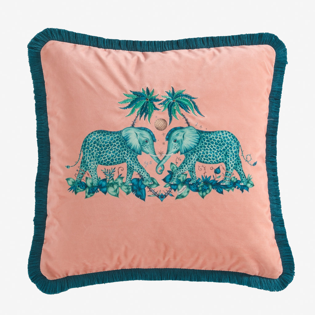 Zambezi Velvet Cushion - Pink