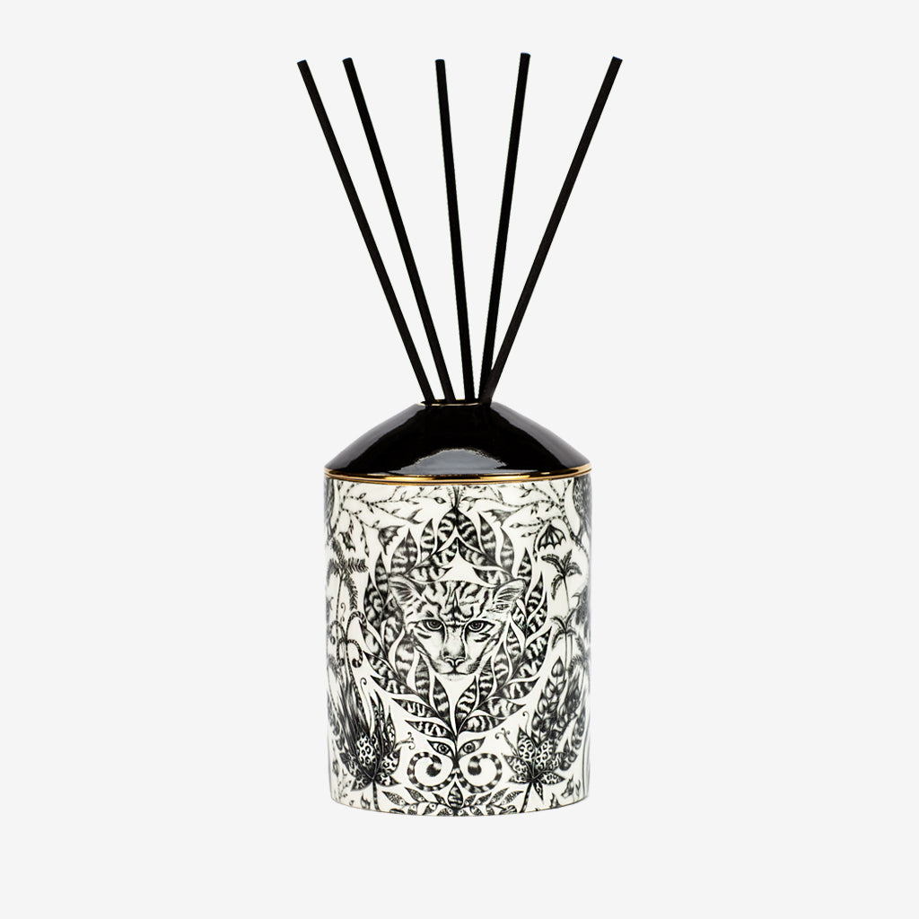 A Full look at the Amazon design from the Emma J Shipley Diffuser collection - scented with Green Fig and Cedarwood, this Diffuser will fill your home with exotic and tropical scents that will transport you to a magical escape all in the comfort of your own home