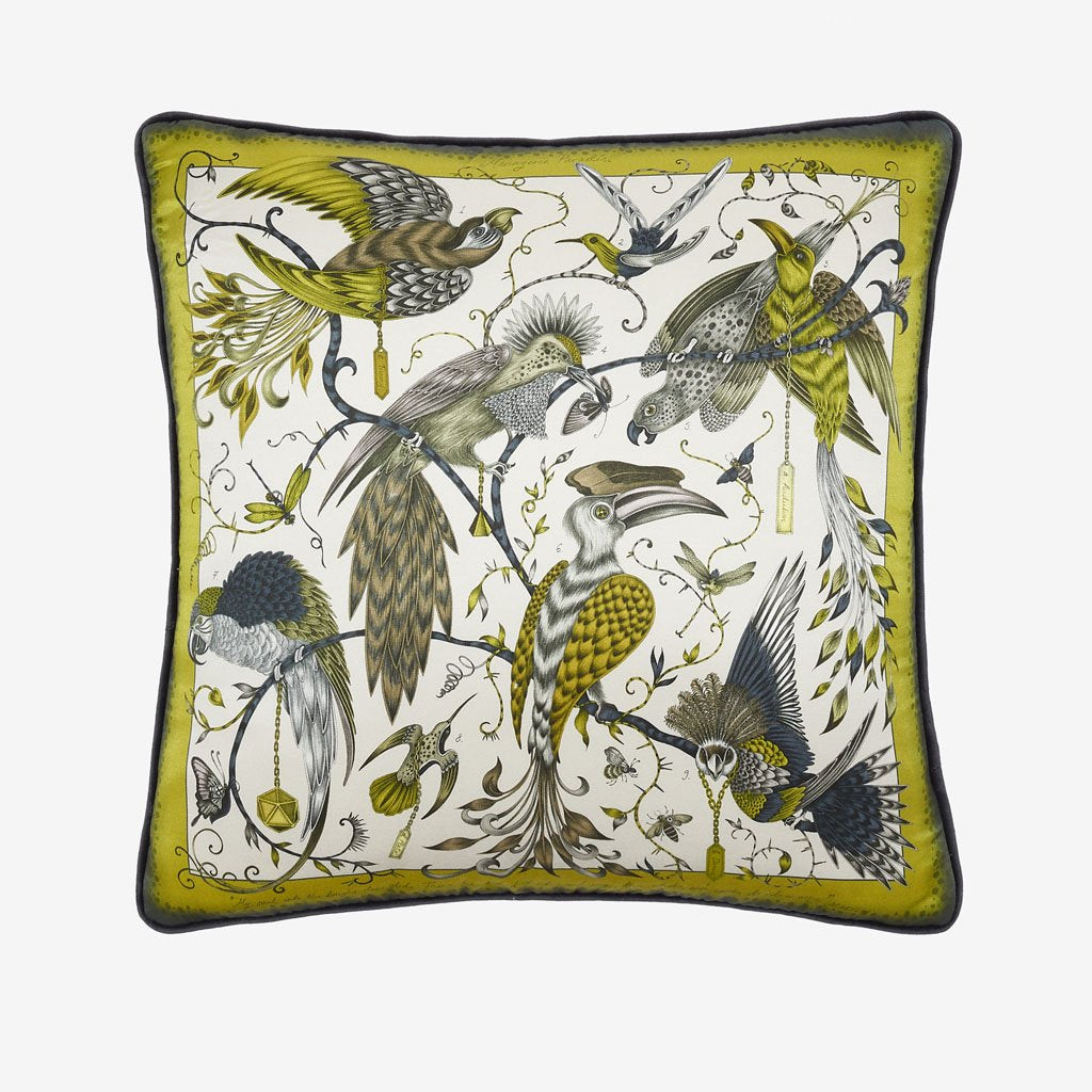 Bring some animalistic magic to your home with the Audubon Cushion, inspired by the work of botanical illustrator John James Audubon, designed by Emma J Shipley