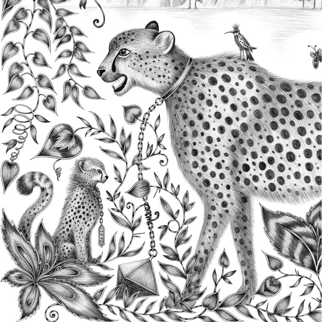 Cheetah Mini Print - Black Frame