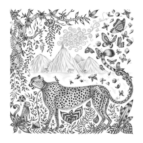 Emma J Shipley Cheetah illustration fine art limited edition luxury print