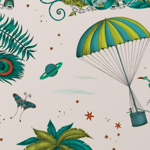 Take a closer look at the beautiful details of the Green Lost World Coaster designed by Emma J Shipley for Jamida