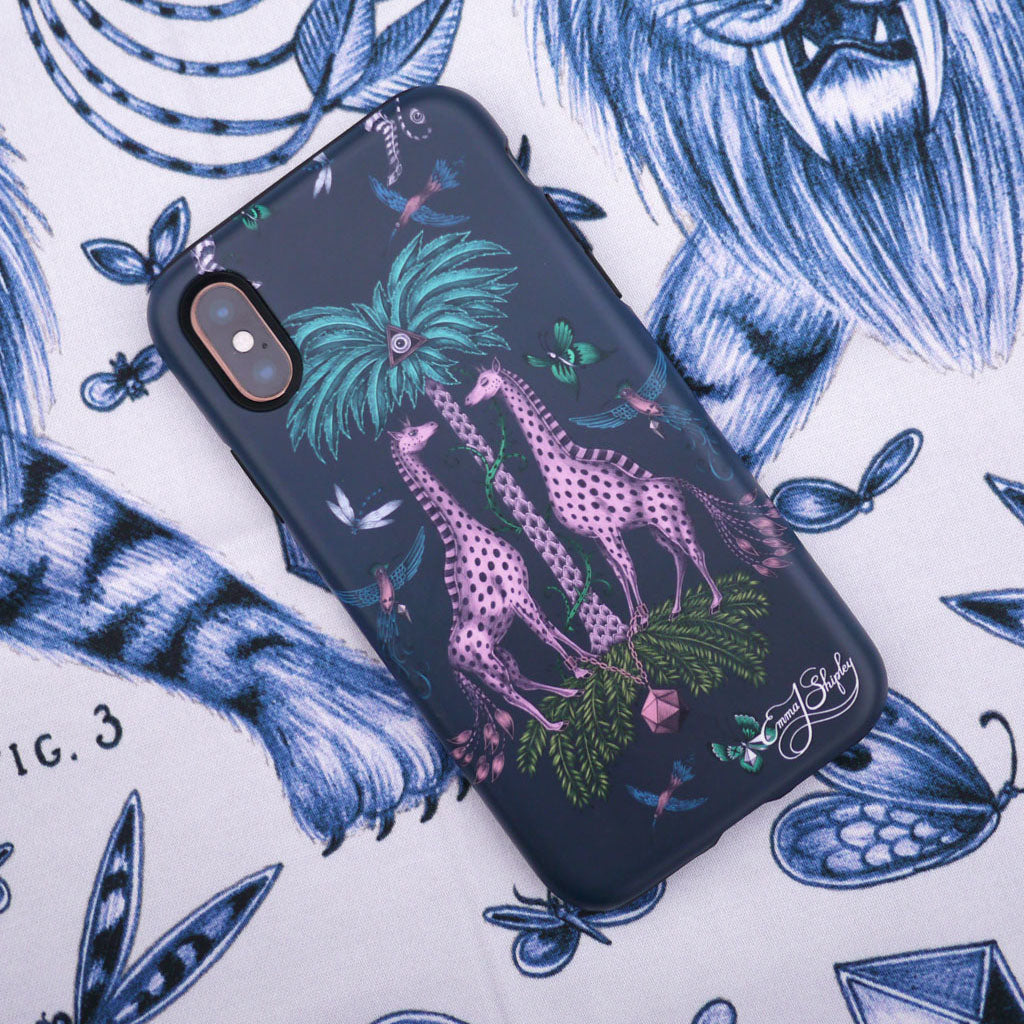 The Kruger Phone Case from the latest Emma J Shipley phone case collection, available for iphone 7/8, 7/8 plus, X/XS and XR