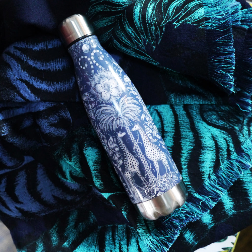 Stylish reusable water bottle designed by Emma J Shipley
