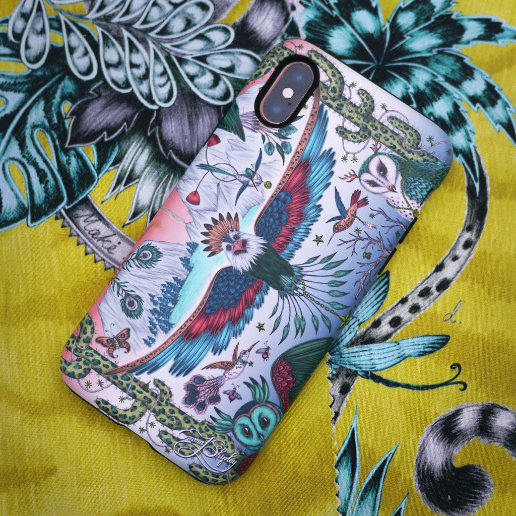 The Frontier Phone Case inspired by Californian landscapes and wildlife, hand drawn by Emma J Shipley