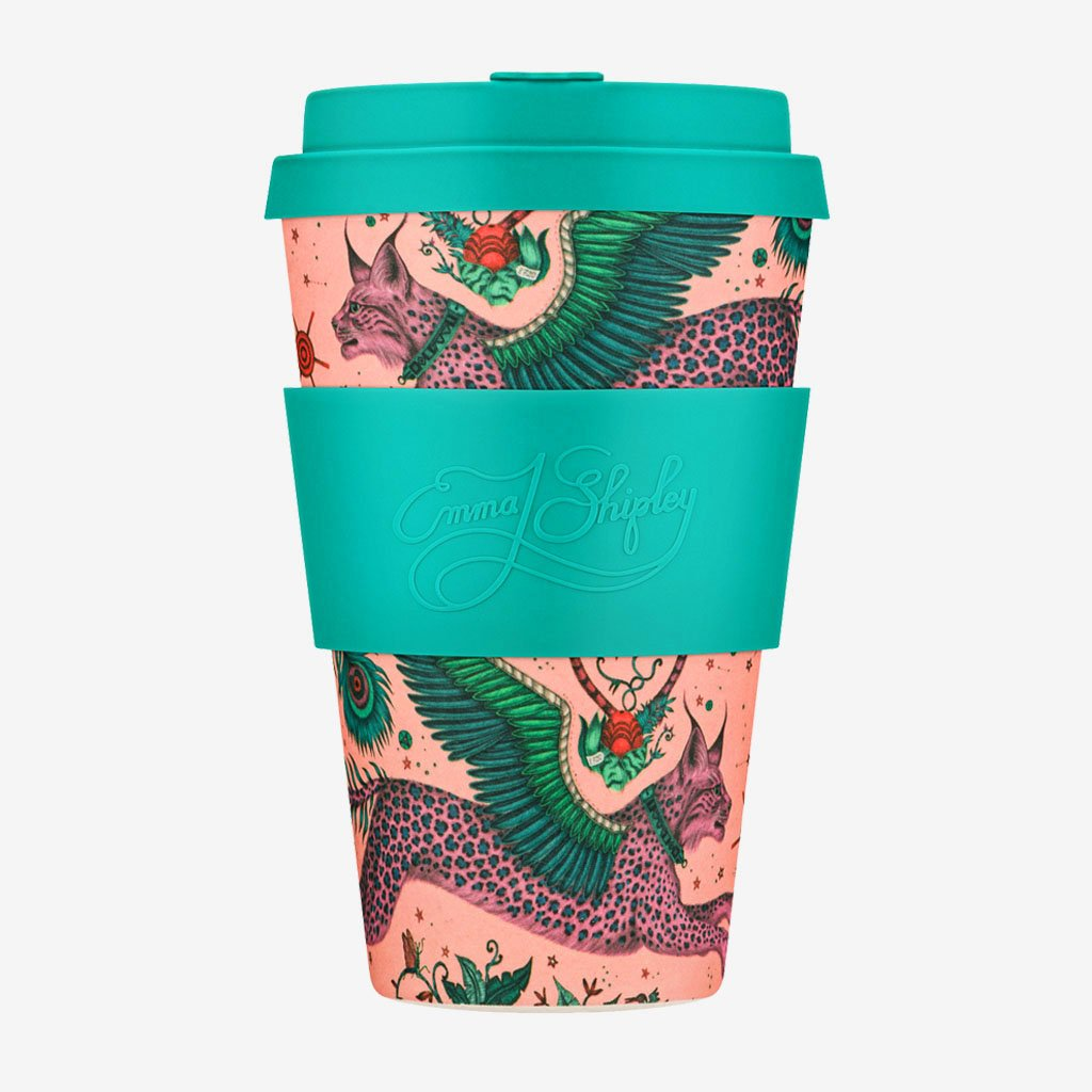 Add a touch of animalistic magic to the everyday with the Lynx Ecoffee Cup designed by Emma J Shipley