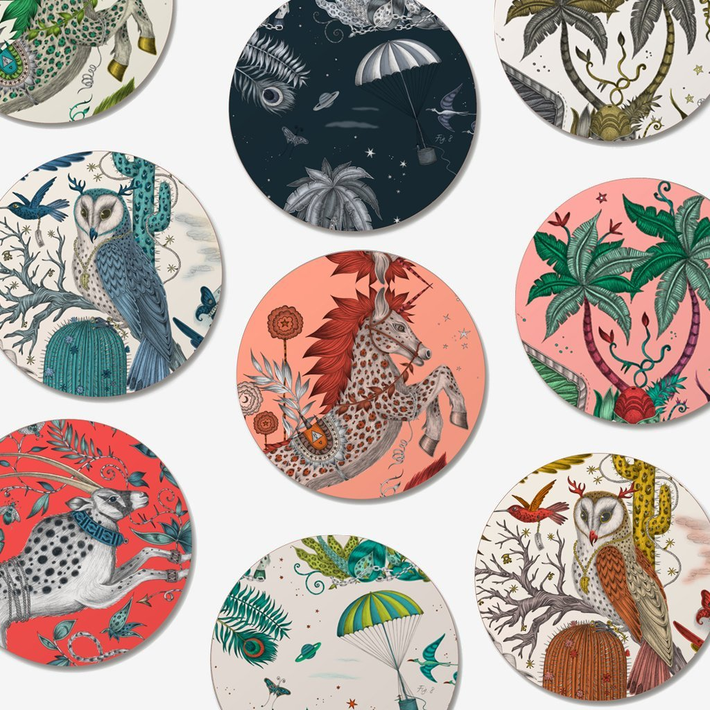 The Emma J Shipley coaster collection, adding some animal magic to your dinning area