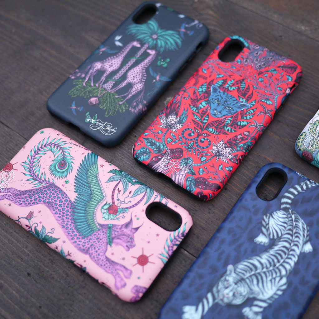 The Kruger Phone Case featured here with others from the newest collection by Emma J Shipley