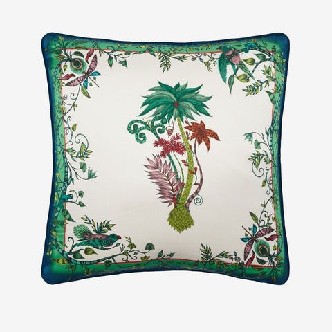 The Jungle Palms cushion from the signature collection designed by Emma J Shipley