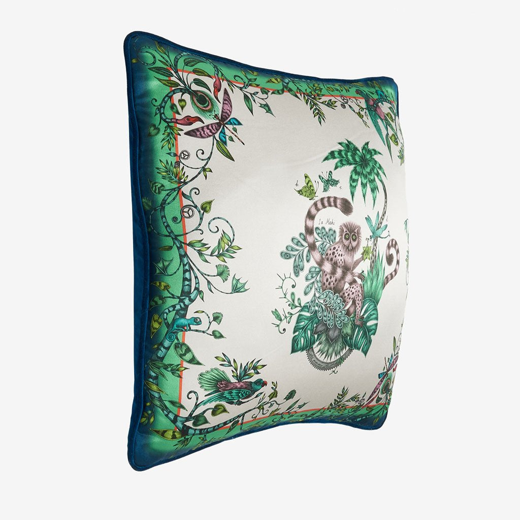 Side view of the Lemur Cushion from Emma J Shipley's signature cushion collection