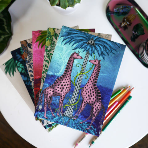 Giraffe Silk Notebook - Lined