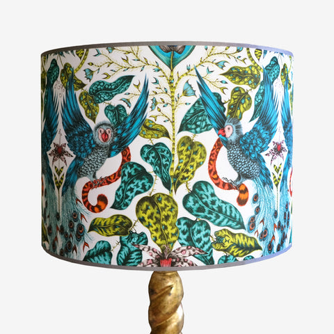 Amazon Lampshade - Parrots