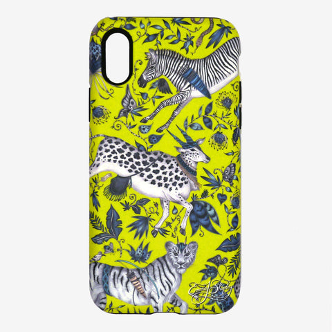 The Protea Phone Case front view by Emma J Shipley, inspired by rock paintings and mythology of the indigenous San people of South Africa