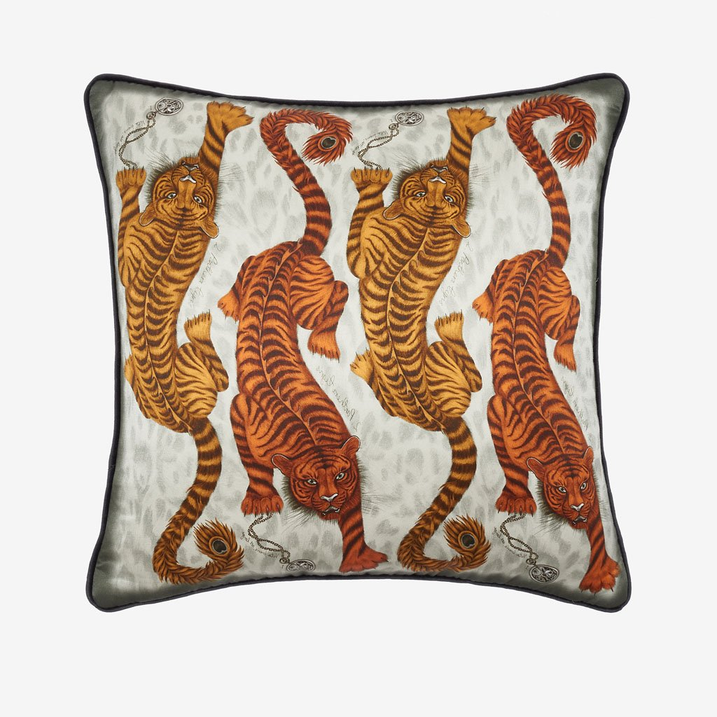 The Tigris Cushion from the Signature Cushion collection is not your average cushion, designed by Emma J Shipley