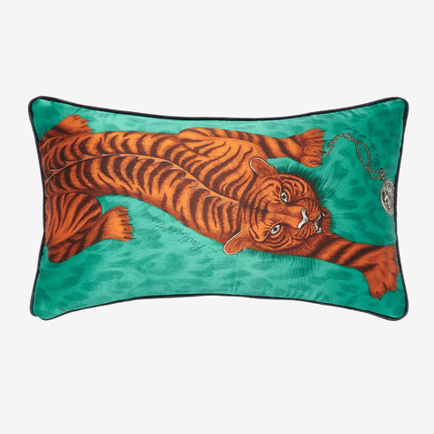 The Tigris Bolster Cushion design from the Signature Cushion collection, inspired by classical Greek and Roman mythology. Designed by Emma J Shipley