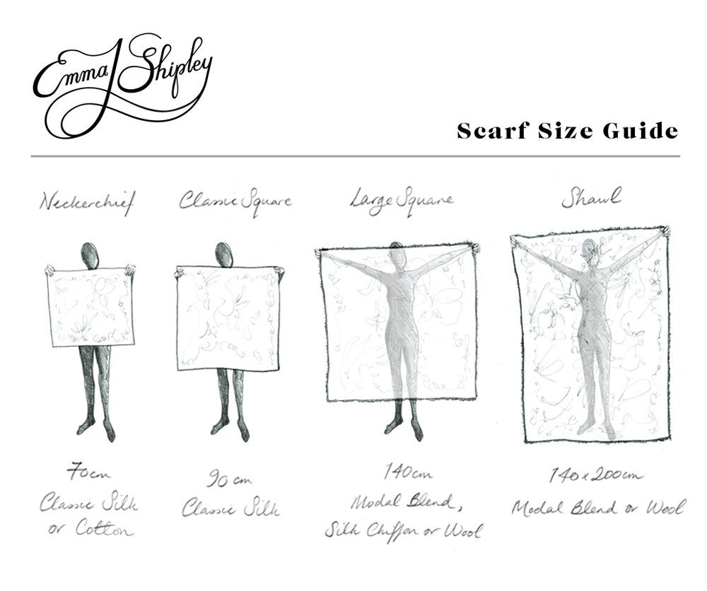 Scarves Size Chart