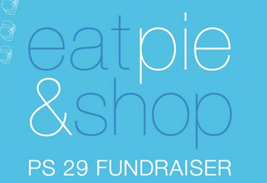 eat pie and shop fundraiser