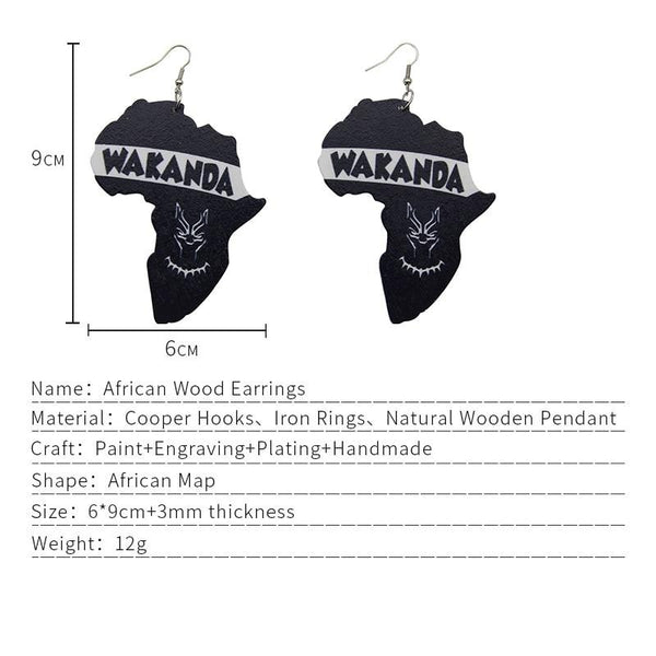 WAKANDA Drop Earrings