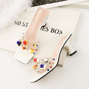 Candy Colors Low Heel Sandals