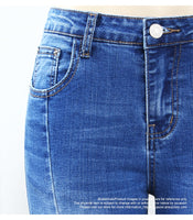 Blue Washed Spliced Skinny Jeans