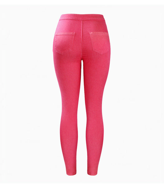 Pink Stretch Jeggings