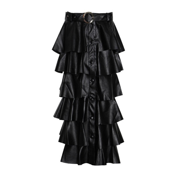 Ankle Length Layered Skirt
