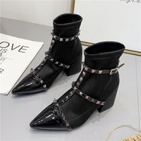 Riveting Ankle Boots