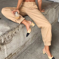 High Waist Harem Pants With Chain