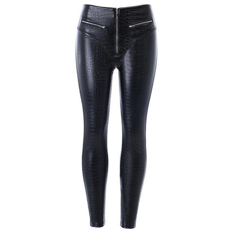 Faux Leather Print Leggings
