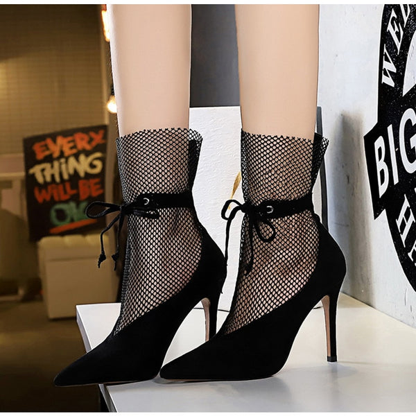 Hollow Meshed Heels