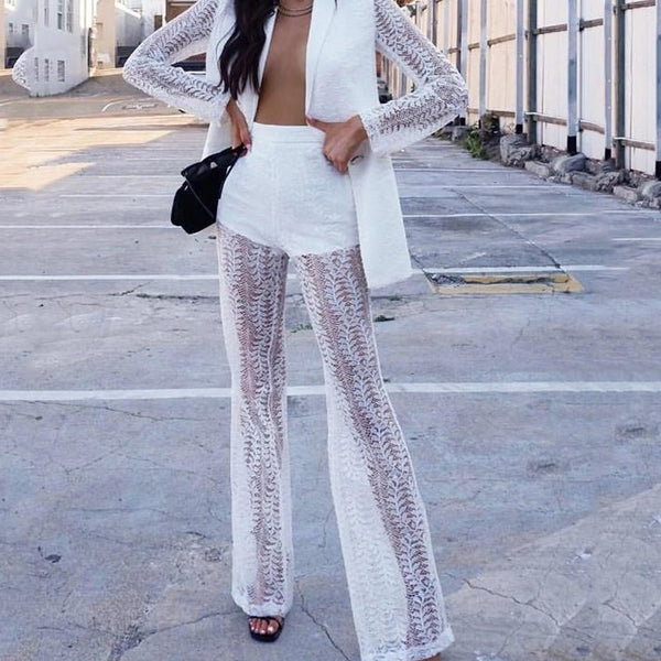 Long Sleeve Lace Two Piece Set