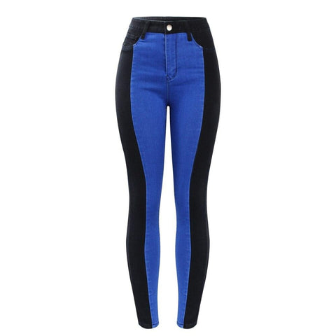 Black & Blue Striped Jeggings
