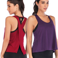 Breathable Back Workout Top
