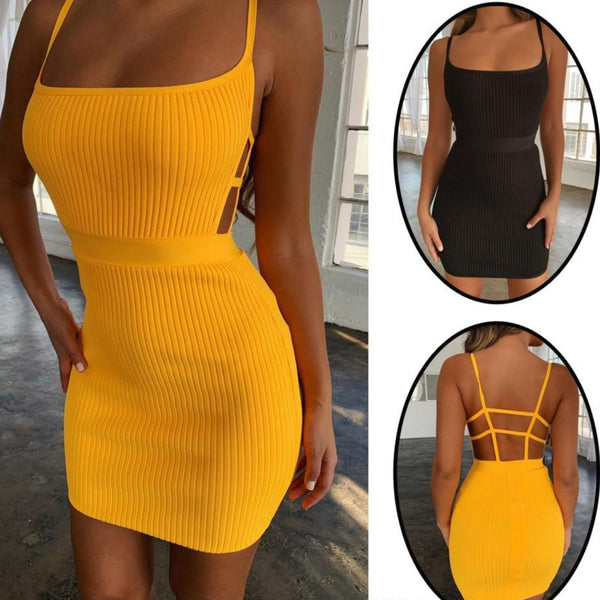 Bandage Hollow Back Dress