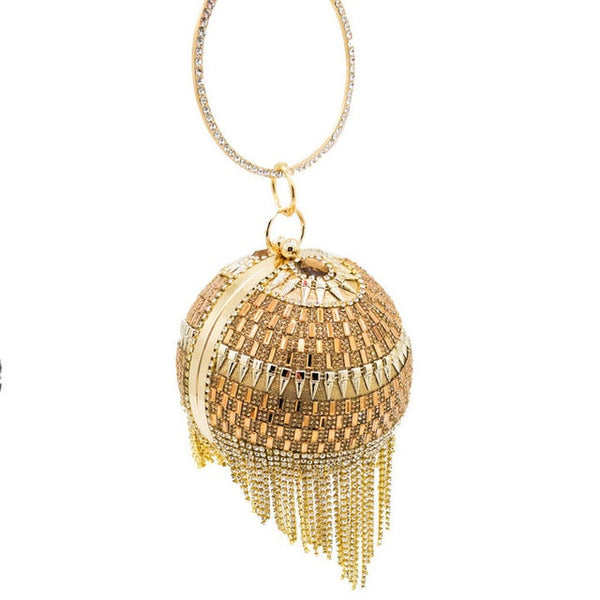 Crystal Tassel Evening Clutch
