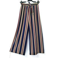Bohemian Style Striped Wide Leg Pant