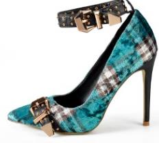 Tartan Strapped and Plaid High Heels