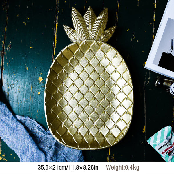 Wood Table Platter (Leaf or Pineapple)