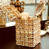 Gold Crystal Organizer with Lid